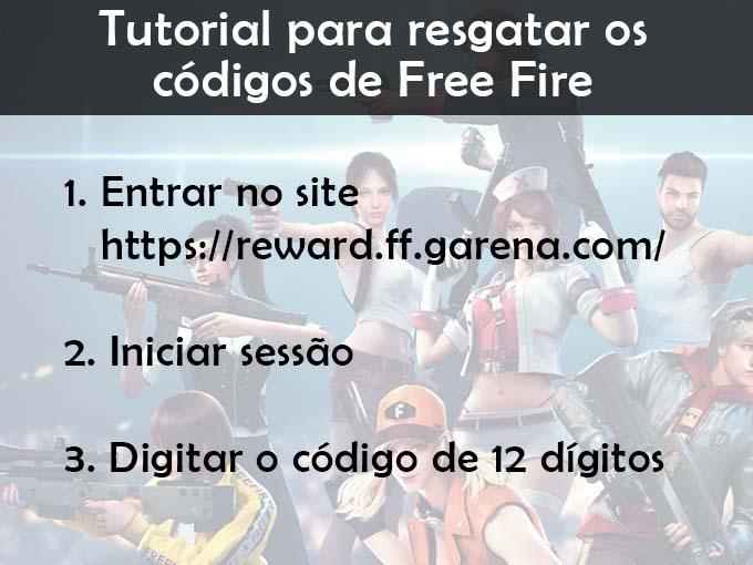Tutorial para resgatar os códigos de Free Fire