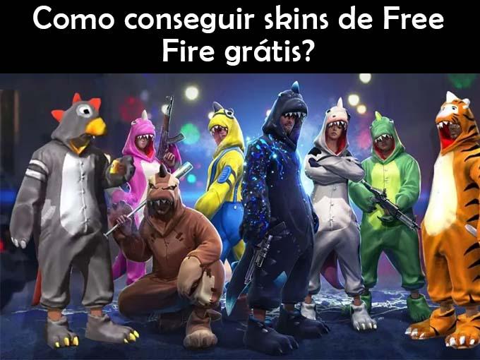 Como conseguir skins de Free Fire grátis?