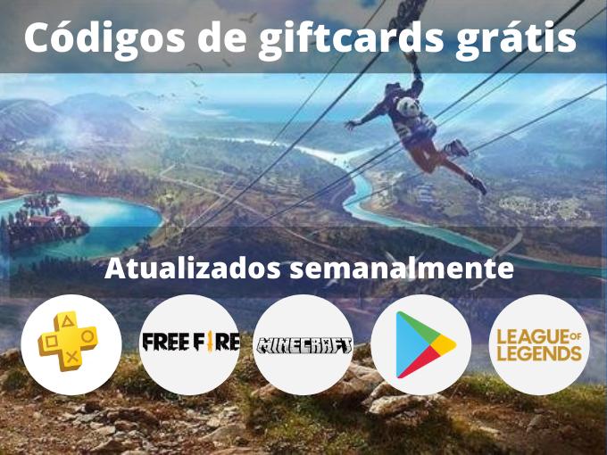 Códigos de giftcards grátis
