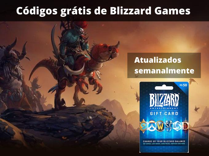Códigos grátis de Blizzard Games
