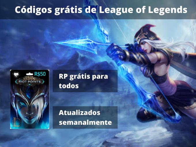 Códigos grátis de League of Legends