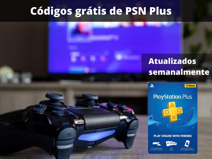 Códigos grátis de PSN Plus