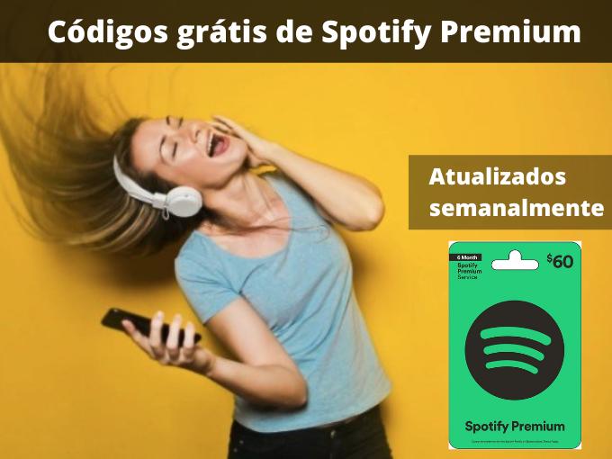 Códigos grátis de Spotify Premium