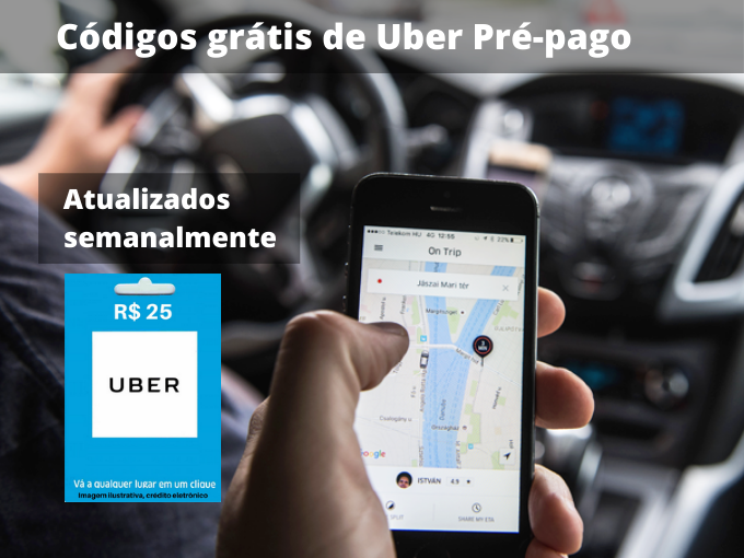 Códigos grátis de Uber Pré-pago