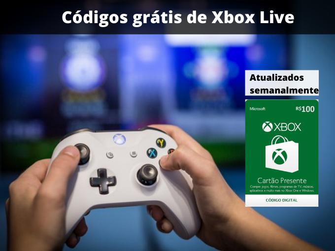 Códigos grátis de Xbox Live