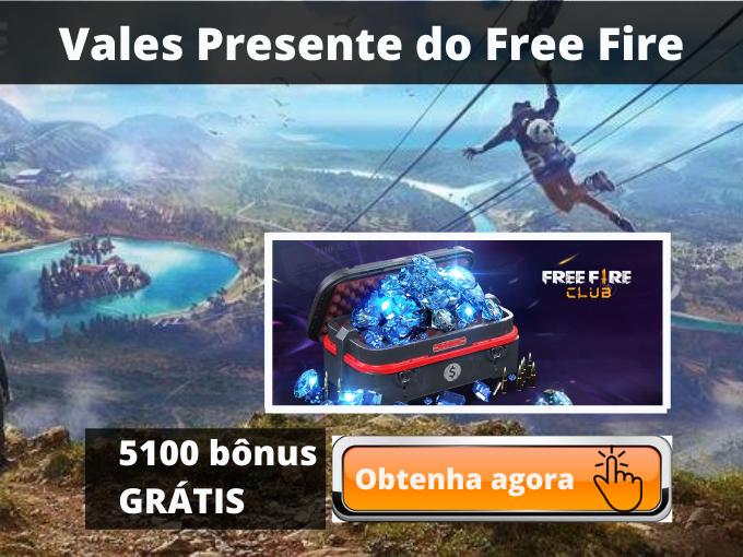 Vales Presente do Free Fire_ Obtenha diamantes e até 5100 bônus GRÁTIS
