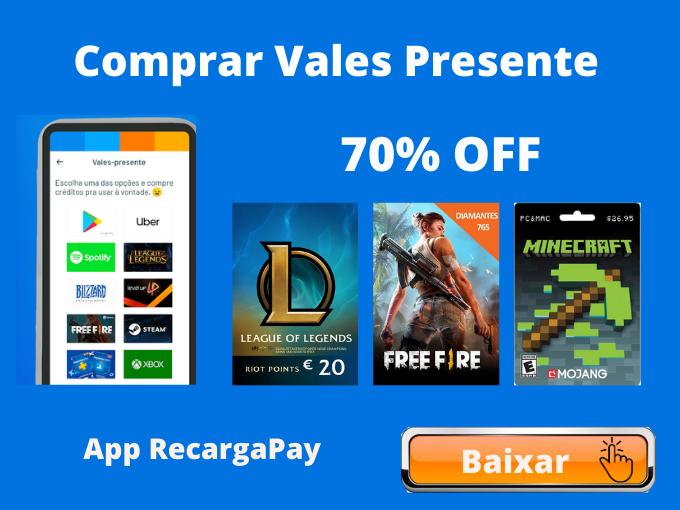 Comprar Vales Presente Recarga Pay_ Cupons GRÁTIS até 70% (9)