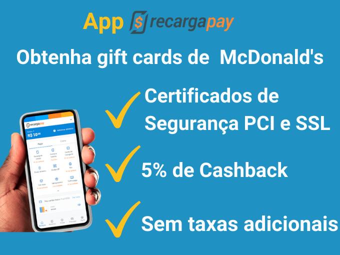 Obter gift cards de McDonald's (1)