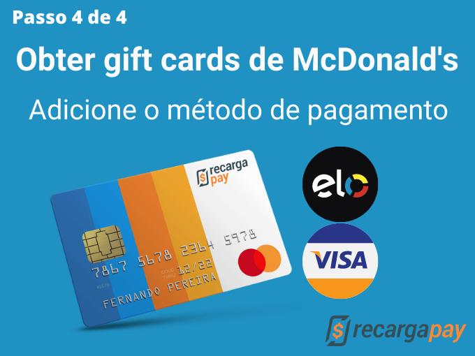 Passo 4 de 4 para Obter gift cards de McDonald's