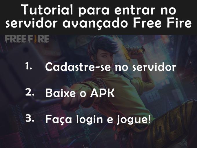 Tutorial passo a passo para entrar no servidor avançado free fire
