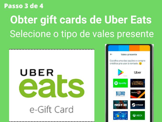 Passo 3 de 4 para Obter gift cards de Uber Eats (1)