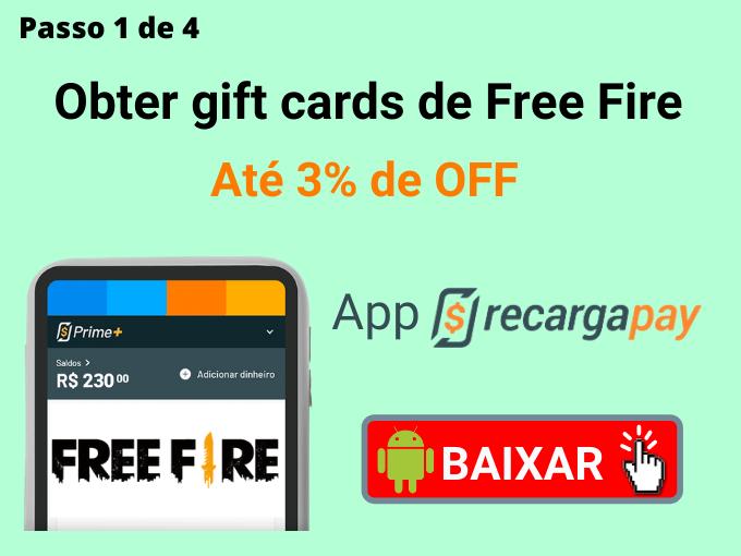 Passo 1 de 4 para Obter gift cards de Free Fire