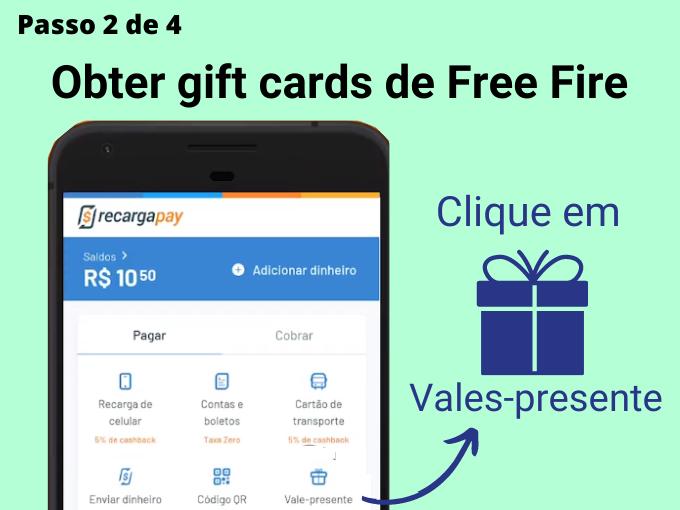 Passo 2 de 4 para Obter gift cards de Free Fire