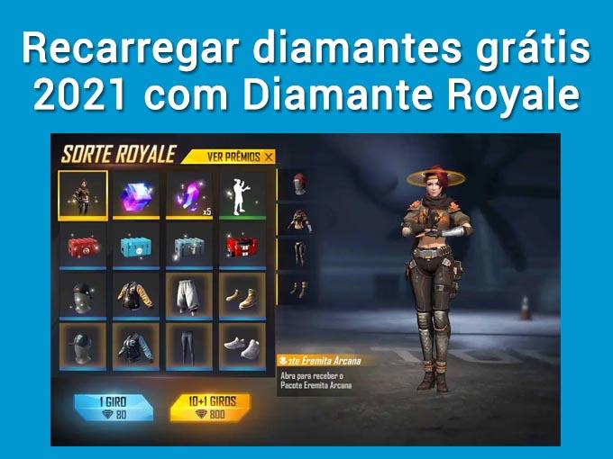obter diamante com Diamante Royale