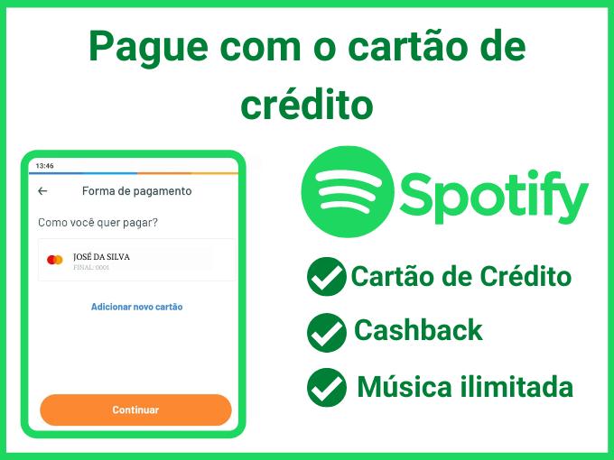 pagamento do spotify premium com o RecargaPay