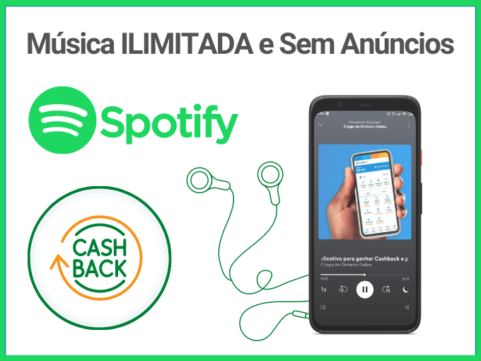 cashback no spotify premium comRecargaPay